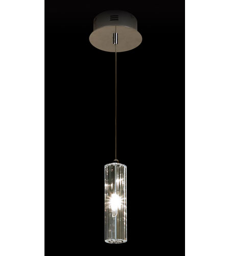 Trend Lighting Solo 1 Light Crystal Pendant in Polished Chrome A800026-1-R photo