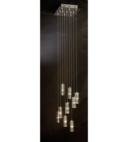 Trend Lighting Icarus 9 Light Chandelier in Polished Chrome A900026-9-T photo