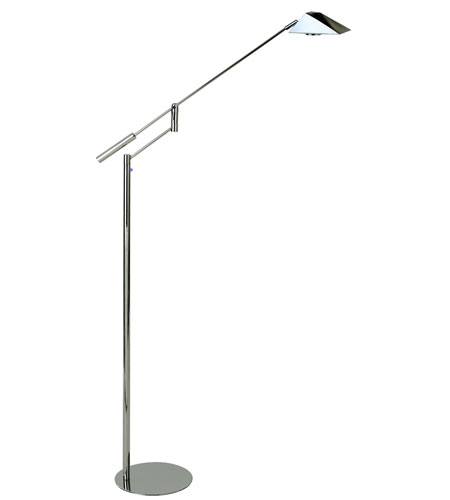 Trend Lighting Slant 1 Light Task Floor Lamp in Polished Stainless Steel TF2325 photo