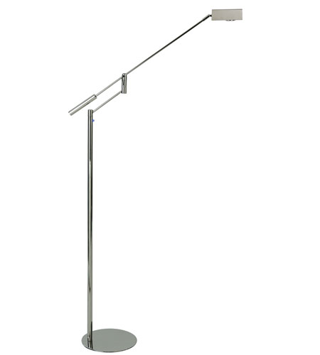 Trend Lighting Slant 1 Light Task Floor Lamp in Polished Stainless Steel TF2346 photo