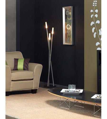Trend Lighting Cavelleto 3 Light Floor Lamp in Brushed Aluminum TF399 photo