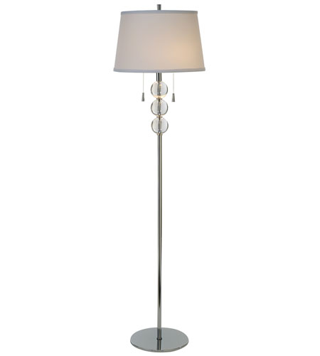 Trend Lighting Pallaeh 2 Light Crystal Floor Lamp in Polished Chrome TF5809 photo