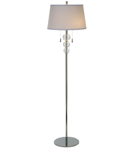Trend Lighting Palla 2 Light Floor Lamp in Polished Chrome TF5875 photo