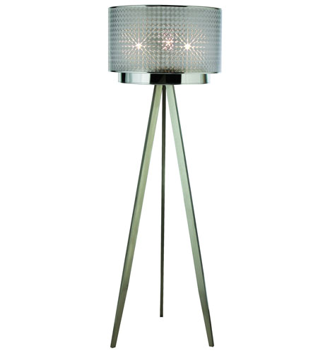 Trend Lighting Paparazzi 3 Light Floor Lamp in Brushed Nickel TF7766-S photo