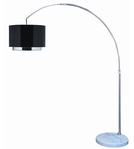 Trend Lighting Paparazzi 1 Light Arc Floor Lamp in Brushed Nickel TFA7768-B photo