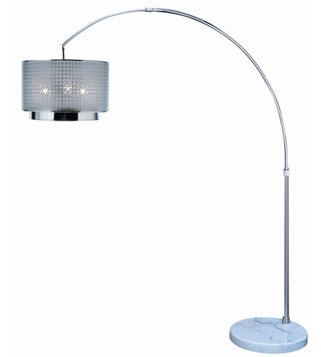 Trend Lighting Paparazzi 1 Light Arc Floor Lamp in Brushed Nickel TFA7768-S photo