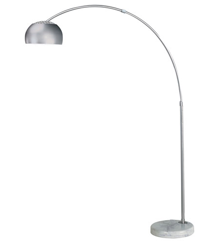 Trend Lighting Arc 1 Light Floor Lamp in Brushed Steel TFA8005 photo