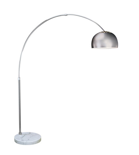 Trend Lighting Big Arc 1 Light Floor Lamp in Brushed Steel TFA9005 photo
