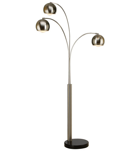 Trend Lighting Triad 3 Light Arc Floor Lamp in Brushed Nickel TFA9030 photo