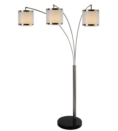 trend lighting lux 3 light arc floor lamp in brushed nickel tfa9307. Black Bedroom Furniture Sets. Home Design Ideas