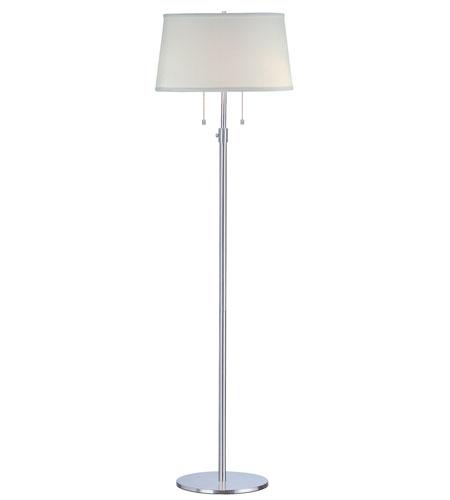 Trend Lighting Urban Basic 2 Light Floor Lamp in Polished Chrome TFB435-26 photo