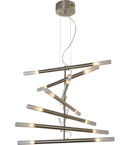 Trend Lighting Cavelleto 14 Light Chandelier in Brushed Nickel TP3900-14 photo