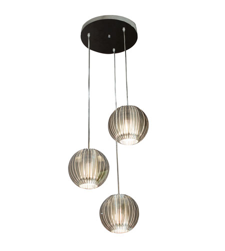 Trend Lighting Phoenix 3 Light Pendant in Clear Acrylic and Satin Silver TP6300-3 photo