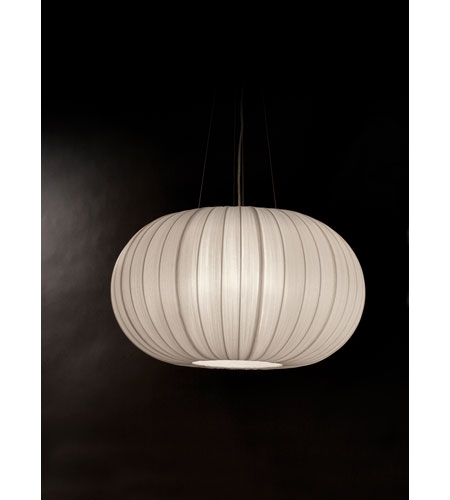 Trend Lighting Shanghai 1 Light Oval Pendant in Brushed Nickel TP7916-W photo