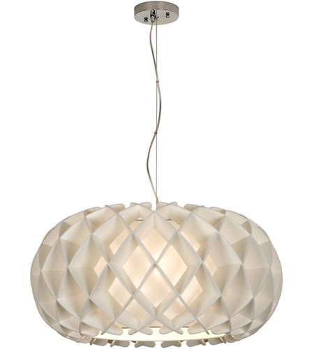 Trend Lighting Honeycomb 2 Light Large Oval Pendant in Brushed Nickel TP8546 photo