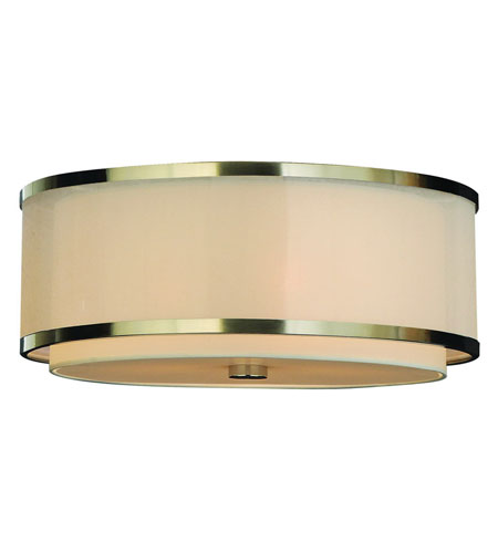 Trend Lighting Lux 3 Light Flushmount in Brushed Nickel TP8957 photo