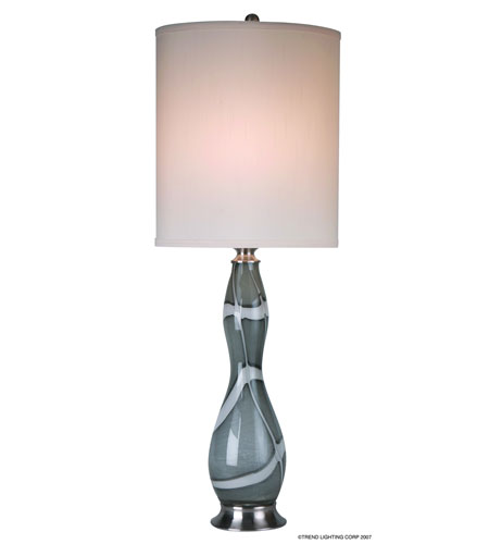 Trend Lighting Polaria 1 Light Table Lamp in Brushed Nickel TT1270 photo