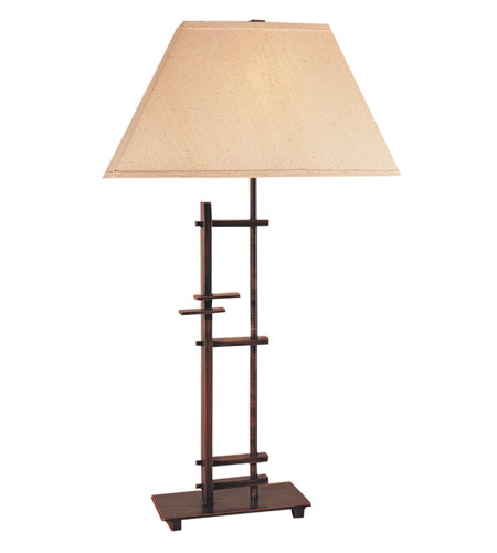 Trend Lighting Striations 1 Light Table Lamp in Antique Copper TT5430 photo