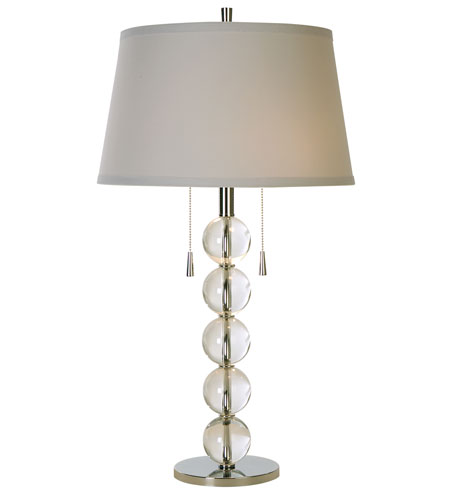Trend Lighting Pallaeh 2 Light Crystal Table Lamp in Polished Chrome TT5808 photo