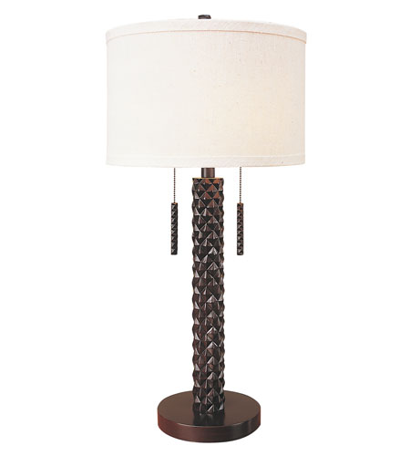 Trend Lighting Pina 2 Light Table Lamp in Dark Cherry TT6630 photo