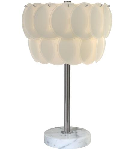 Trend Lighting Selene 1 Light Table Lamp in Brushed Nickel TT6642 photo