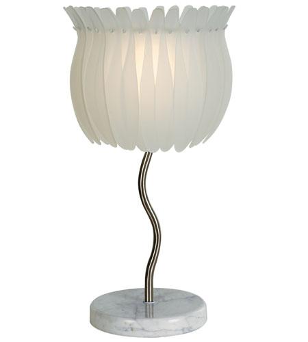 Trend Lighting Lotus 2 Light Table Lamp in Brushed Nickel TT6962 photo
