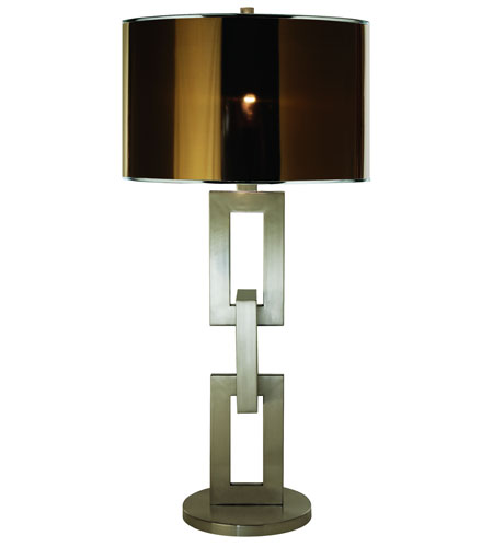 Trend Lighting Linque 1 Light Table Lamp in Brushed Nickel TT7570 photo
