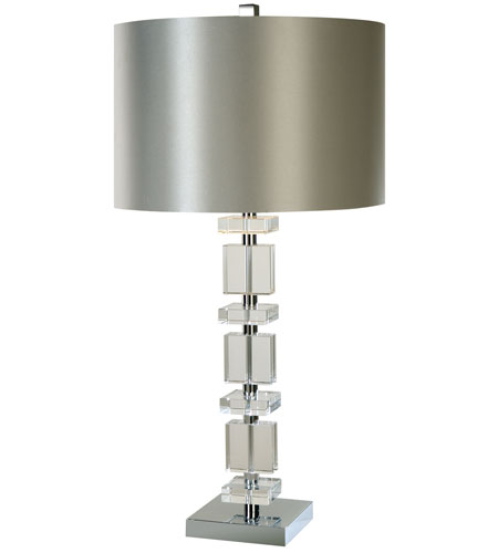 Trend Lighting Tableau 1 Light Crystal Table Lamp in Polished Chrome TT8723 photo