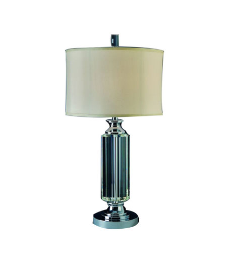 Trend Lighting Solitaire 1 Light Crystal Table Lamp in Polished Chrome TT8700 photo
