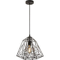 Trend Lighting Frenzy 1 Light Pendant in Antique Black BP5677