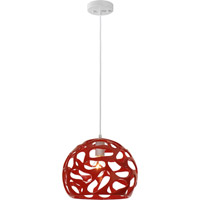 Trend Lighting Ion 1 Light Pendant in Lipstick Red BP5904