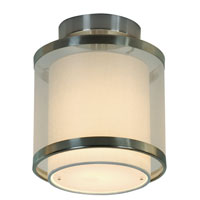 Trend Lighting Lux 1 Light Flushmount in Brushed Nickel BP8942