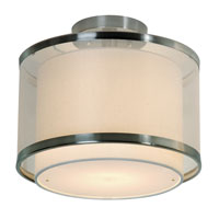 Trend Lighting Lux 1 Light Flushmount in Brushed Nickel BP8946
