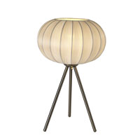 Trend Lighting Shanghai 1 Light Table Lamp in Brushed Nickel BT7913-W