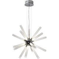 Trend Lighting Champagne LED 16 Light Chandelier in Polished Chrome with Frosted Tubes with Clear Tips Shade TP3750-16