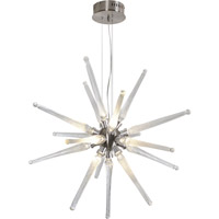 Trend Lighting Supernova 16 Light Pendant in Brushed Nickel with Hand Blown Clear Icicle Glass TP3760-16-C