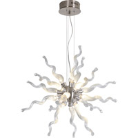 Trend Lighting Stella 16 Light Pendant in Brushed Nickel with Hand Blown Clear Corkscrew Glass TP3766-16-C