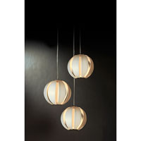 Trend Lighting Pique 3 Light Pendant in Brushed Nickel TP3953-W