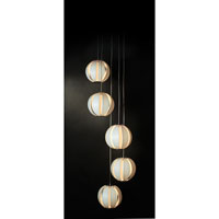 Trend Lighting Pique 5 Light Pendant in Brushed Nickel TP3955-W