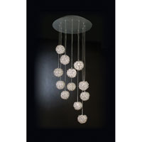 Trend Lighting Snow 12 Light Pendant in Satin Silver TP4374
