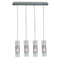 Trend Lighting Scope 4 Light Pendant in Brushed Nickel TP4389