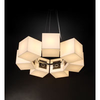 Trend Lighting Q 7 Light Large Round Chandelier in Brushed Nickel TP4907