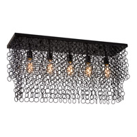 Trend Lighting Knight 5 Light Chandelier Flushmount in Antique Black TP4975