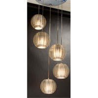 Trend Lighting Phoenix 5 Light Pendant in Clear Acrylic and Satin Silver TP6300-5