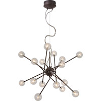 Trend Lighting Galaxia 16 Light Pendant in Antique Bronze with Clear Glass with Spun Filament TP6367-16