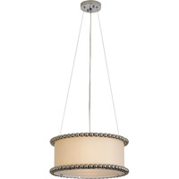 Trend Lighting Romance 2 Light Pendant in Polished Chrome with Off-White Silk Shade TP6453