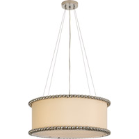 Trend Lighting Romance 4 Light Pendant in Polished Chrome with Off-White Silk Shade TP6456