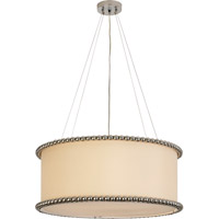 Trend Lighting Romance 6 Light Pendant in Polished Chrome with Off-White Silk Shade TP6457