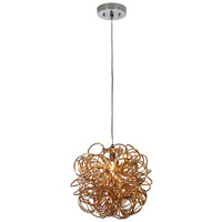 Trend Lighting Mingle 1 Light Pendant in Faceted Gold TP6815