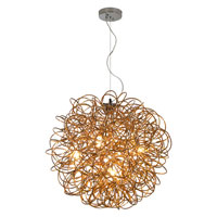 Trend Lighting Mingle 4 Light Pendant in Faceted Gold TP6817